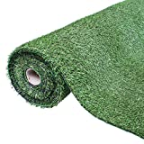 GardenKraft Césped Artificial - 4 m x 1 m - 15 mm de Grosor