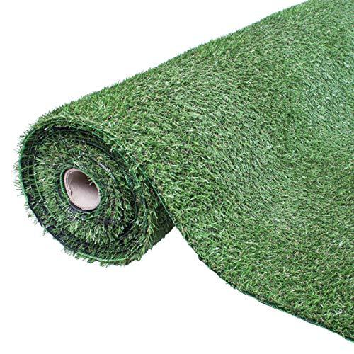 GardenKraft Césped Artificial - 4 m x 1 m - 15 mm de Grosor