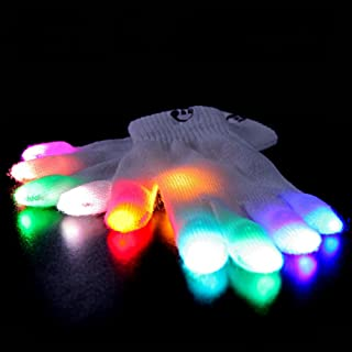 EmazingLights Elite Chroma CTRL LED Gloves, 5 Light Flashing Modes - #1 Leader in Gloving & Lights Shows
