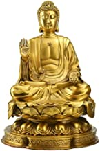 Pure Copper Sakyamuni Buddha Statue Ornaments, Large Brass Sakyamuni Sitting Buddha Sculpture Crafts, Meditation Buddha fo...