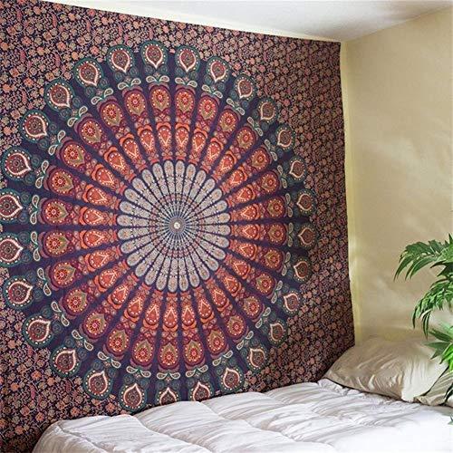 Nieuwe Indische Mandala Tapestry Hippie huis op Decoratieve muur Opknoping Bohemen Beach Mat Yoga Mat sprei tafelkleed 210x148CM