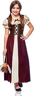 Costume Culture Peasant Girl Costume, Burgundy, Large