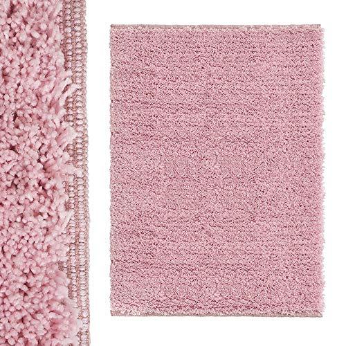 Alfombra de Pelo Malva de algodón y poliéster de 120x170 cm - LOLAhome