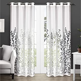 Exclusive Home Curtains Wilshire Burnout Sheer Window Curtain Panel Pair with Grommet Top, 84