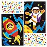 Baker Ross Kits Mosaico del Sistema Solar (Paquete de 4) - Artes y Manualidades para niños