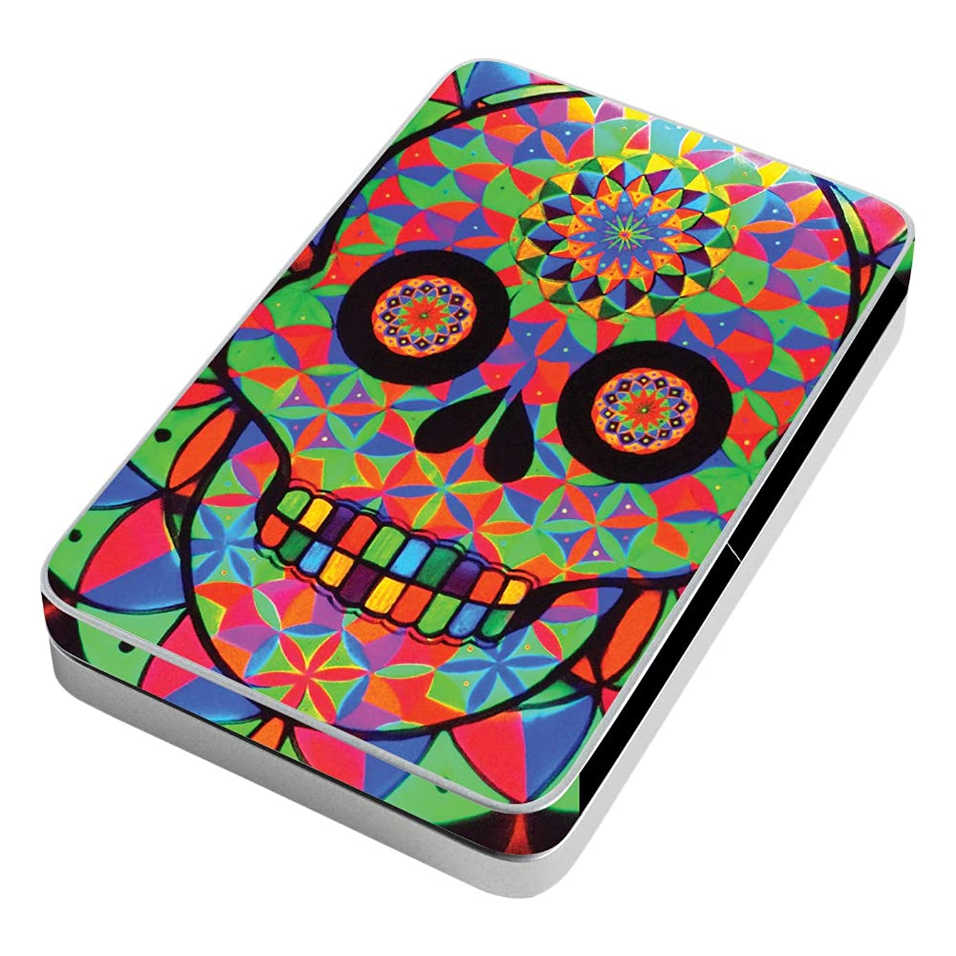 MightySkins Skin Compatible with Lifeprint 3x4.5 Hyperphoto Printer - Geo Sugar Skull | Protective, Durable, and Unique Vinyl wrap Cover | Easy to Apply, Remove, and Change Styles | Made in The USA