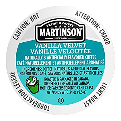 Martinson Single Serve Coffee Capsules, Vanilla Velvet, Compatible with Keurig K-Cup Brewers, 24 Count