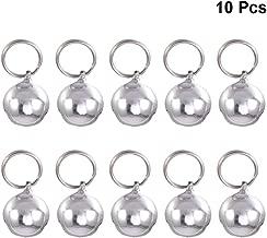 Silber UKCOCO Katzenglocke Pendant Bells Kupfer Hunde Halskette Zubeh/ör Dekoration 6pcs 1.9 x 1.6 cm