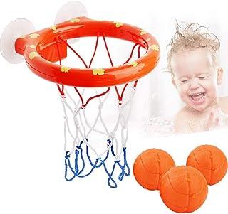 Coxeer Bathtub Basketball Hoop Multipurpose Toddler Bath Toy Mini Basketball Set for Baby