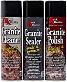 Rock Doctor Granite Care Kit, 3 Piece Maintenance Stone Care Combo Kit – All-in-One Rock Surface...