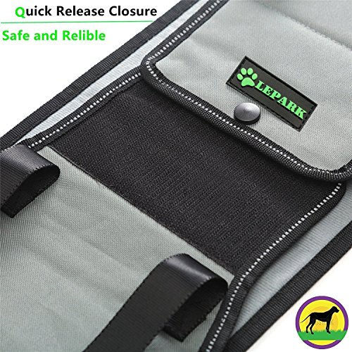 Lepark  Dog Sling with Handle for Canine Aid, Veterinarian Approved Dog Lift Harness for Rehabilitation (L)