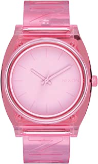 Women's NIXON Time Teller P A138 - Pink/Nixon - 119M Water Resistant Men's Analog Fashion Watch (40mm Watch Face, 20mm Pu/Rubber/Silicone Band)