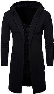 f9ed59fe2b33 OverDose Chaqueta de Punto Chaqueta de Punto Larga Delgada de la Rebeca del  suéter del Knit