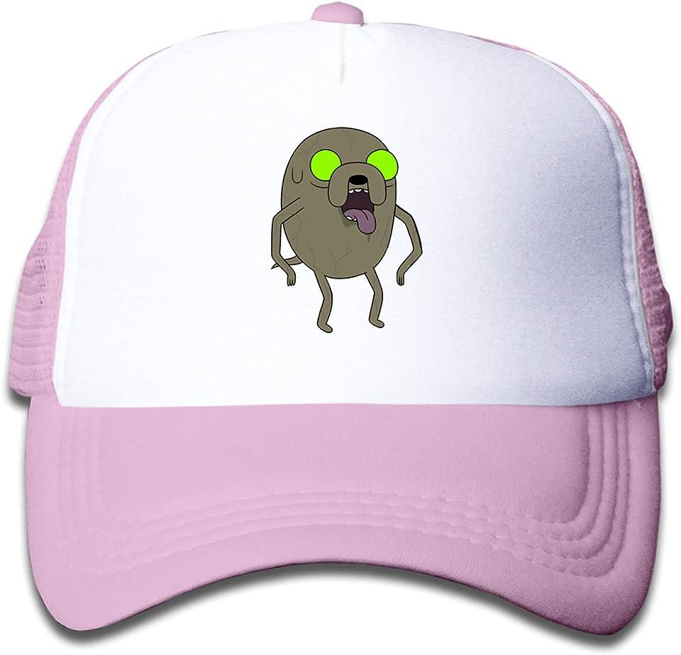 Adventure Time Zombie Jake, Children's Trucker Hats Cap Boys Girls Unisex Kids Sun Hats Adjustable Hip Hop Hat Pink