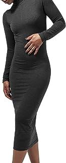 Urban Classics Ladies Turtleneck L/S Dress Vestito Donna