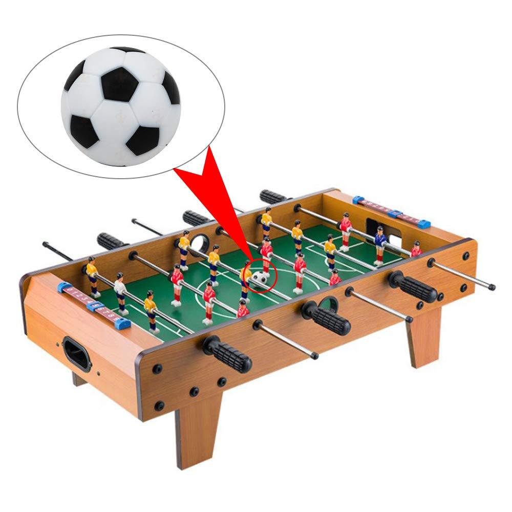 AZXAZ Mesa Futbolín Balones fútbol Mini Bola de Reemplazo de Juguete Diámetro 33mm 10 Piezas: Amazon.es: Juguetes y juegos