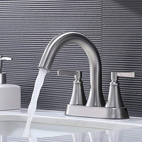 VCCUCINE Bathroom Faucet ,Best Commercial Stainless Steel Centerset Brushed Nickel 2 Handles...