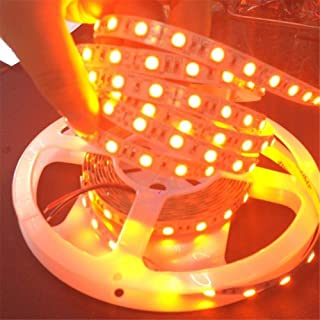 iNextStation Orange LED Strip Light, 16.4ft 3528 SMD 300 LEDs Non-Waterproof 12V Flexible LED Ribbon for Home/Hotel/Clubs/Candlelight Dinner/Halloween Decor [Without Power Adapter]