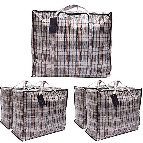 DECO EXPRESS Stora tvättväskor flyttbar förvaringsväska (paket med 5 väskor)