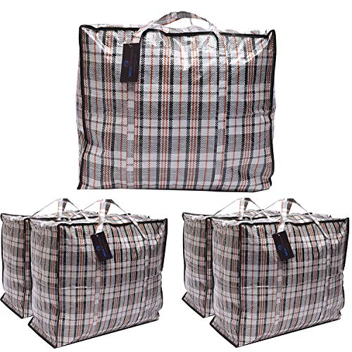 DECO EXPRESS Large Laundry Bags Moving Storage Bag (Pack of 5 bags)