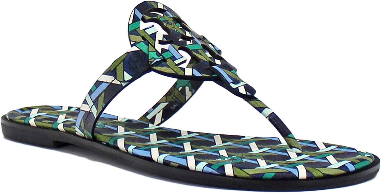 Tory Burch Women's Miller Welt Flats Sandals Slides in Printed L