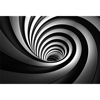 Amazon Com Laeacco Abstract Black White Swirl Backdrop 10x8ft Vinyl Mysterious Spiral Artistic Design Futuristic Theme Novelty Background Child Kids Adult Shoot Party Banner Wallpaper Studio Props Camera Photo