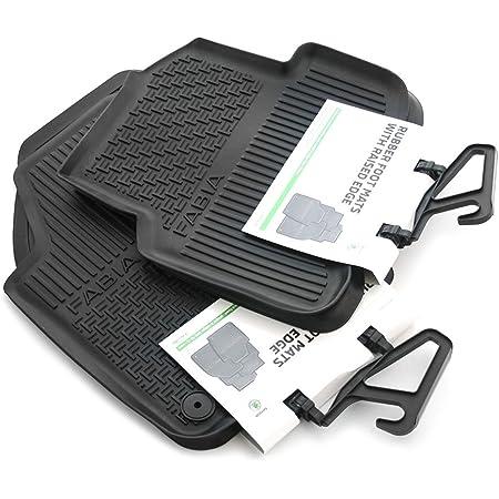 Skoda 6v1061551 6v0061551 Gummi Fußmatten 4x Gummimatten Original Allwettermatten Schwarz Mit Schriftzug Auto