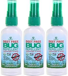 Greenerways Organic Insect Repellent Travel Size, Premium, USDA Organic, DEET-Free, Natural, Mini Repellent Spray, Travel Size Repellent, Mosquito-Repellant, Bug Spray 3-Pack - (3) 2oz - MSRP 23.97