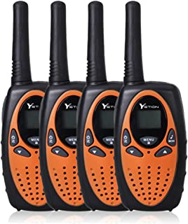 YETION Walkie Talkies Two Way Radios Long Range Distance 22 Channel Clear Sound (Orange x4)