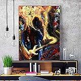 ganlanshu Impresión Moderna en Lienzo Pintura Abstracta Retrato Pared Arte póster Imagen Sala de Estar decoración,Pintura sin marco-30X40cm