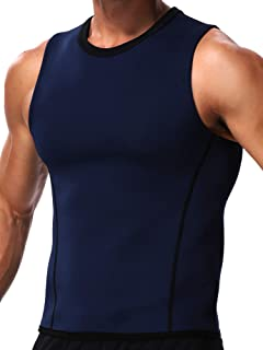 Sauna Vest for Men Neoprene Sweat Waist Trainer Slimming Work Out Tank Top Hot