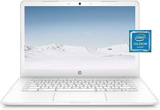 HP Chromebook 14 Laptop, Dual-core Intel Celeron Processor N3350, 4 GB RAM, 32 GB eMMC Storage, 14-inch FHD IPS Display, Google Chrome OS, Dual Speakers and Audio by B&O (14-ca051nr, 2020)
