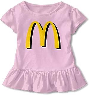 Kids Girls' Classic McDonalds Logo Tee T Shirt Short Sleeve Tshirt for Girls T-Shirt Crew Neck Clothes