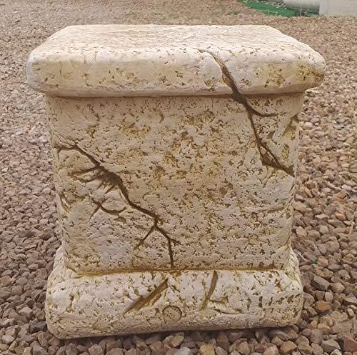 DEGARDEN Pedestal Columna de hormigón-Piedra para jardín o Exterior 24X23cm.