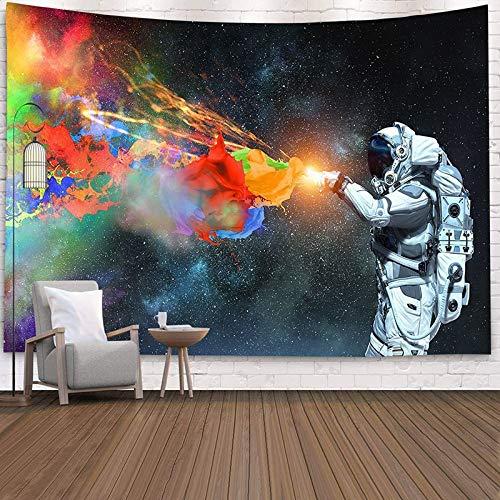 Tapiz de decoración del hogar con estampado de astronauta Paisley para colgar en la pared, colchoneta de yoga, almohadilla para dormir, tapiz de viaje, alfombrillas de planeta grandes A5 200x180cm