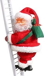 FANGTION Ornaments 2020, Christmas Creative Decoration Santa Claus Electric Climbing Hanging Xmas Ornament Toys