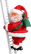Electric Santa Claus Climbing Ladder Doll Decoration Plush Doll Toy for Xmas Party Home Door Wall Decoration Climbing Ladder Santa Claus Creative Musical Xmas Doll Sing Christmas Songs
