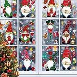 Kaishuai-Vinilos para puertas,vinilos para ventanas,decoracion navidad hogar,navidad decoración,decoración de ventanas,Navidad Papá Noel Vinilos Navideños Pegatinas de Pared Reutilizabl