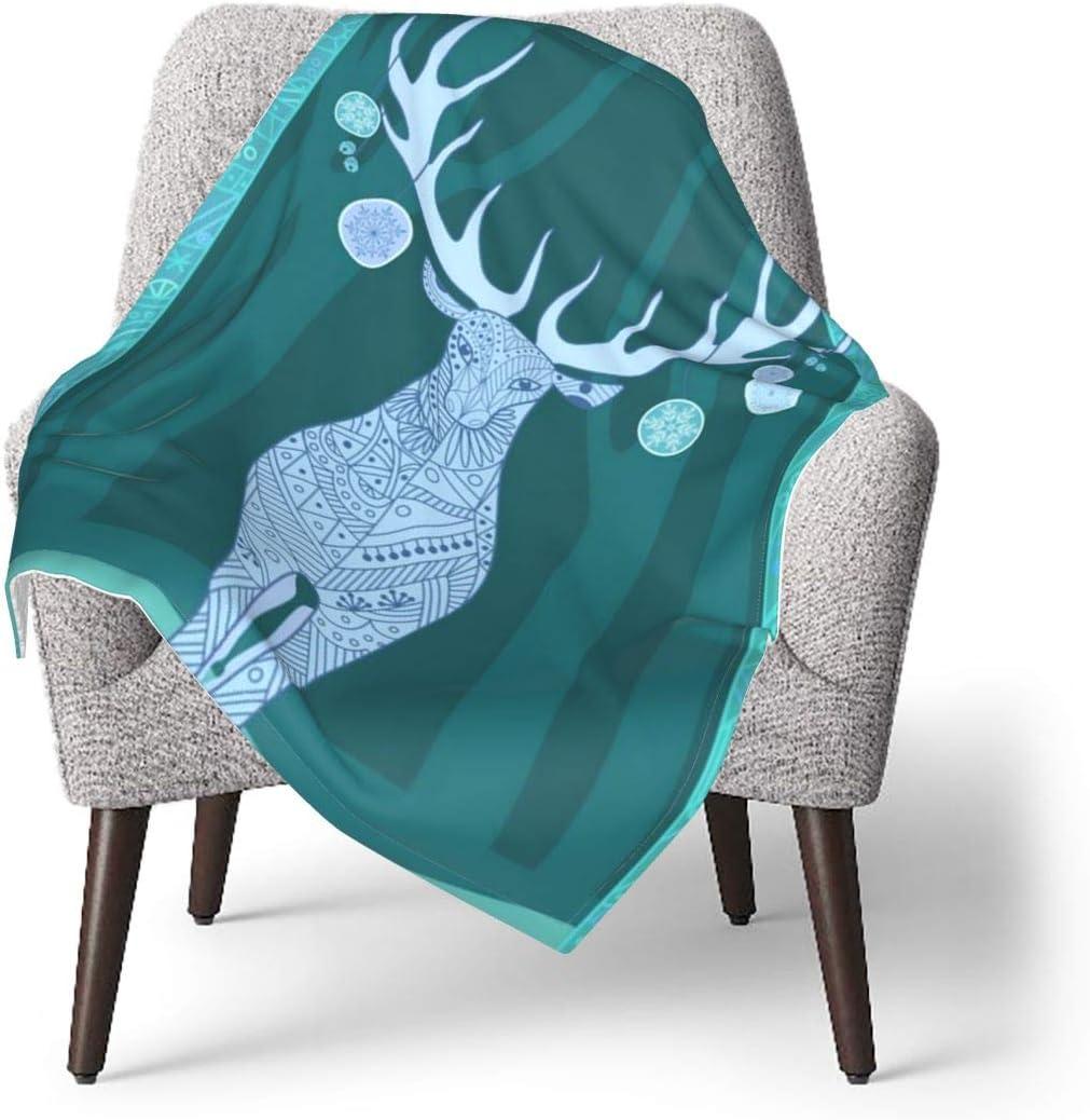 YUERF Merry Christmas Deer Happy New Warm B Throw Soft sale Year Washington Mall Baby