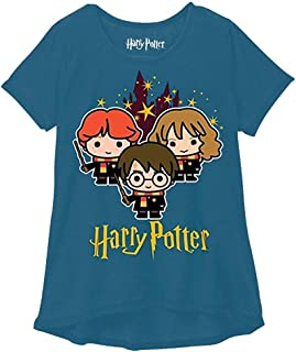 Harry Potter Youth Girls Fashion Top Hogwarts Stars Navy