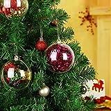 20 x Bolas de Navidad Forma Redonda Acrílico Transparente para Decorar el arbol de Navidad (8cm) no Incluye Cuerda
