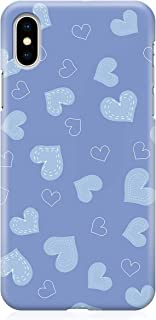 Loud Universe Case for iPhone XS Wrap around Edges Valentines Day Couples Blue Love Heart Pattern Sleek Design Heavy Duty ...