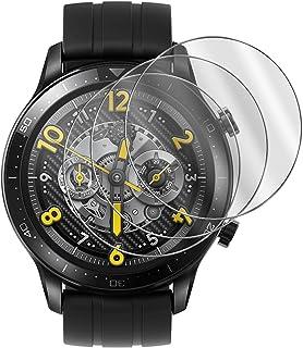 GIOPUEY [2 Pack] Skärmskydd Kompatibelt med Realme Watch S Pro, [Full Täckning]Ultratunn HD-Kompositskyddsfilm, Reptålig, ...