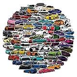 100pcs JDM Racing car Stickers - Waterproof Cars Vinyl vsco Stickers for Kids, Laptop ,Hydroflask, Water Bottles, Kids Helmets,Computer Cars Decal Stickers Packs