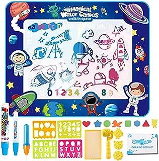 LIMOS Kids Aqua Magic Water Doodle Mat,Water Drawing Mat for Toddlers,Large Painting Coloring Writing Board Kit-Mess Free ...
