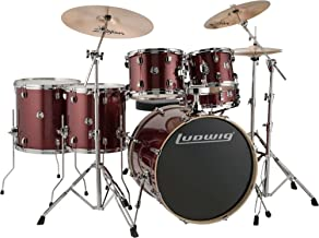 Ludwig Element Evolution 6-Pc Drumset with Zildjian ZBT Cymbals - 22 Inches - Wine Red Sparkle