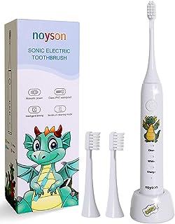 Kinder elektrische Zahnbürste wiederaufladbar, professionelle stille wasserdichte elektrische Zahnbürste für Alter 3+ Kind...