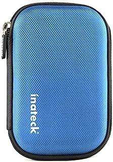Inateck 2.5インチ ポータブルハードディスクケース 2.5型HDD保護収納ケース 本体/ケーブル用別収納タイプ【ブルー】