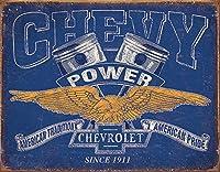 シボレー CHEVY POWER レトロ調 アメリカンブリキ看板