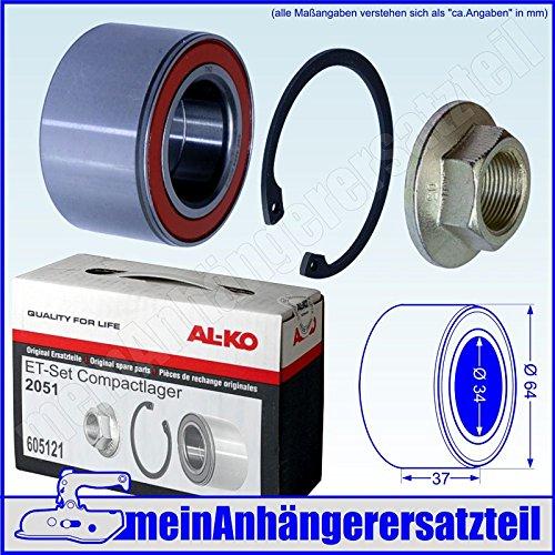 AL-KO ALKO Kompaktlager Radlager Satz 34/64x37mm ET-Set Ecolager 1224801